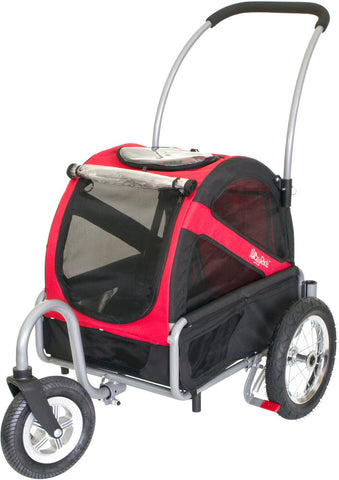 DoggyRide Mini Dog Stroller - Urban Red (DRMNST02-RD) - Peazz Pet