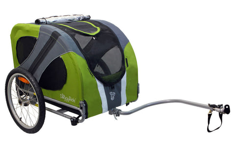 DoggyRide Novel Dog Bike Trailer - Outdoors Green (DRNVTR09-GR) - Peazz Pet