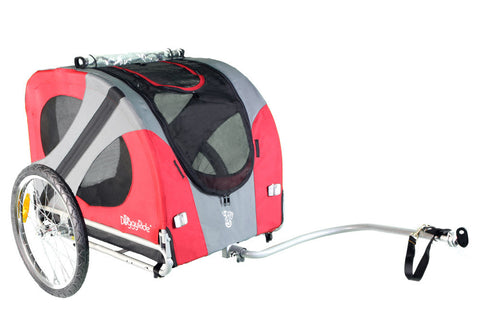 DoggyRide Original Dog Bike Trailer (DRORTR09-RD) - Peazz Pet