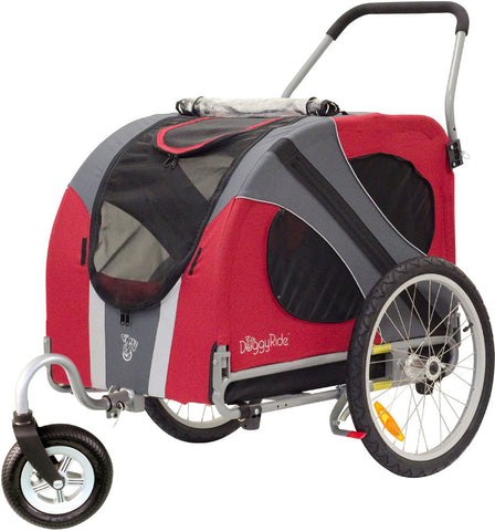 DoggyRide Novel Dog Stroller - Urban Red (DRNVST09-RD) - Peazz Pet