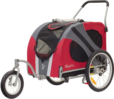 DoggyRide Novel Dog Jogger-Stroller - Urban Red (DRNVJS09-RD) - Peazz Pet