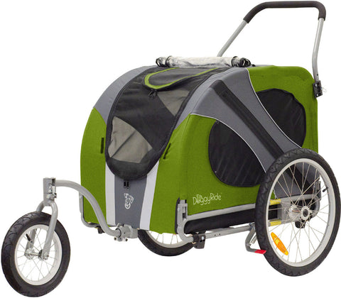 DoggyRide Novel Dog Jogger-Stroller - Outdoors Green (DRNVJS09-GR) - Peazz Pet