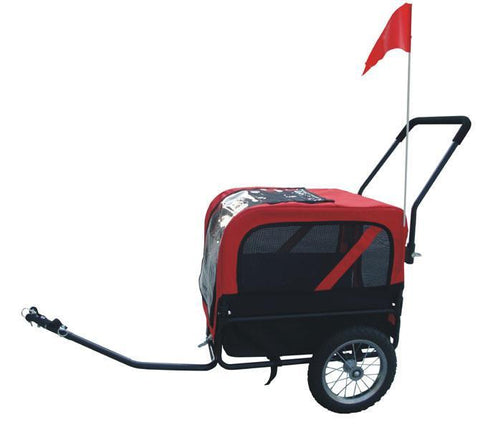 MDOG2 Comfy MK1484 Pet Bike Trailer/Jogging Stroller Small - Red/Black - Peazz.com