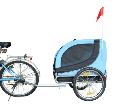 MDOG2 MK0001-BLU Comfy MK0001 Pet Bike Trailer - Blue/Black - Peazz Pet