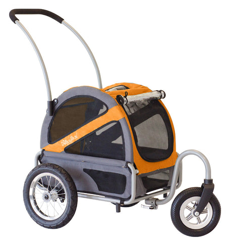 DoggyRide Mini Dog Stroller - Dutch Orange/Grey (DRMNST02-OR) - Peazz Pet
