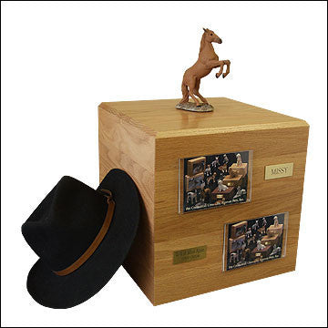 Chesnut, Rearing PH700-3060 Horse Cremation Urn - Peazz Pet