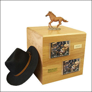Chesnut, Running PH700-3045 Horse Cremation Urn - Peazz Pet