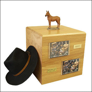Chesnut, Standing PH700-3030 Horse Cremation Urn - Peazz Pet