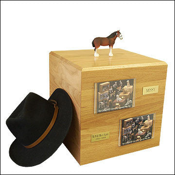 Clydesdale, Standing PH700-3015 Horse Cremation Urn - Peazz Pet
