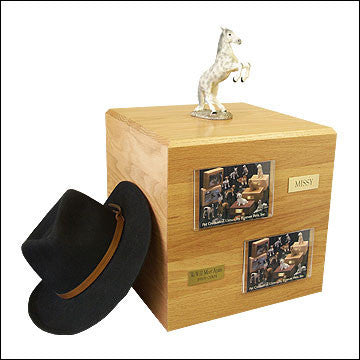 Dapple, Gray, Rearing PH700-3054 Horse Cremation Urn - Peazz Pet