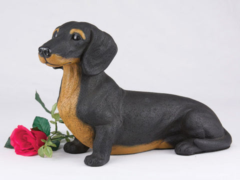 Dachshund Shorthair CS2738 Black & Tan Urn - Peazz Pet