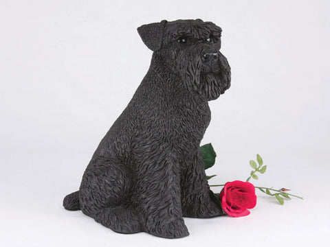 Schnauzer, Ears Down CS2776 Black Urn - Peazz Pet