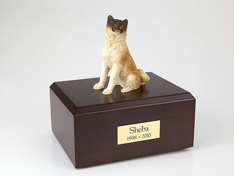 Akita, Japanese, Sitting TR200-007 Figurine Urn - Peazz Pet - 1
