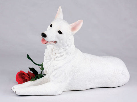 German Shepherd CS2749 White Urn - Peazz Pet