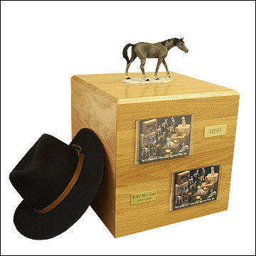 Gray, Standing PH700-3009 Horse Cremation Urn - Peazz Pet