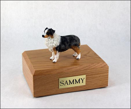 Australian Shepherd, Blue TR200-524 Figurine Urn - Peazz Pet - 1