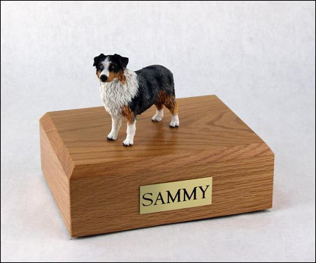 Australian Shepherd, Blue/docked TR200-527 Figurine Urn - Peazz Pet - 1