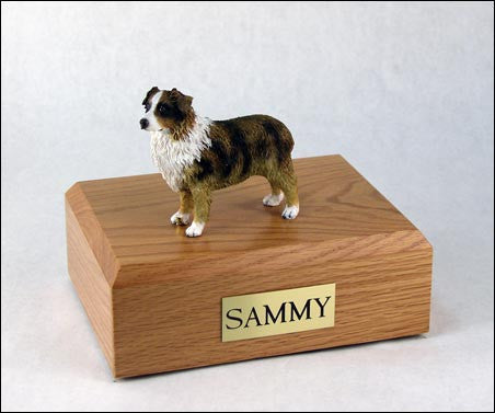 Australian Shepherd, Red/Brown/White TR200-533 Figurine Urn - Peazz Pet - 1