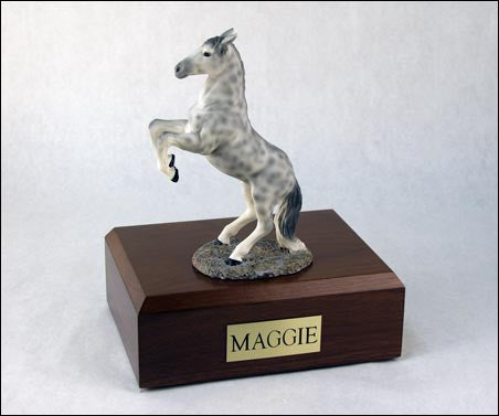 Horse, Dapple, Gray, Rearing TR200-3054 Figurine Urn - Peazz Pet