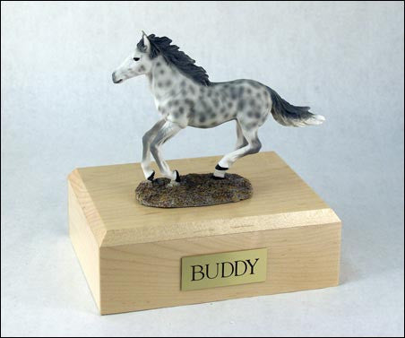 Horse, Dapple, Gray, Running TR200-3039 Figurine Urn - Peazz Pet