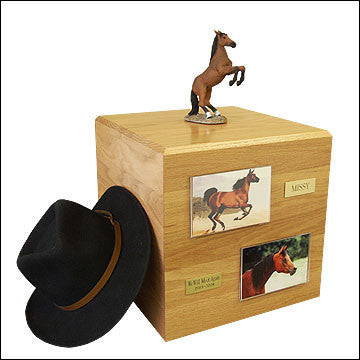 Bay, Rearing PH700-3057 Horse Cremation Urn - Peazz Pet - 1