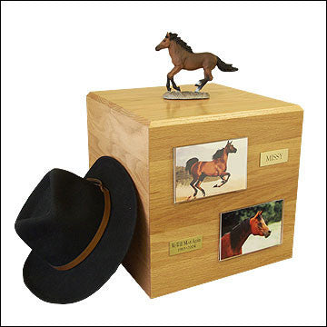 Bay, Running PH700-3042 Horse Cremation Urn - Peazz Pet - 2