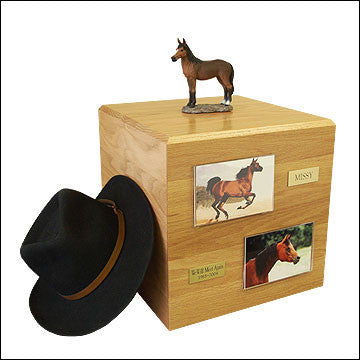 Bay, Standing PH700-3027 Horse Cremation Urn - Peazz Pet - 1