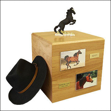 Mustang, Black - Horse Cremation Urn - Peazz Pet