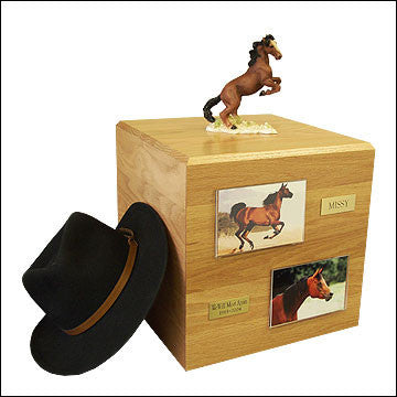 Mustang, Brown PH700-3003 Horse Cremation Urn - Peazz Pet
