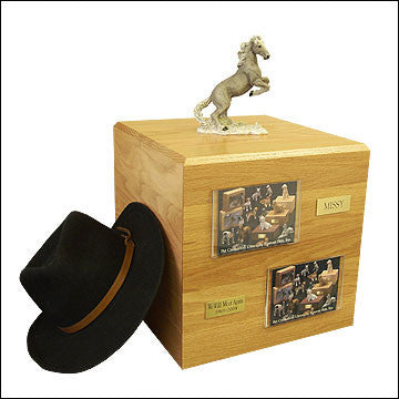 Mustang, Gray PH700-3006 Horse Cremation Urn - Peazz Pet