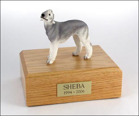 Bedlington Terrier, Gray TR200-314 Figurine Urn - Peazz Pet - 1