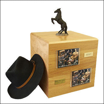 Black, Rearing PH700-3048 Horse Cremation Urn - Peazz Pet - 1