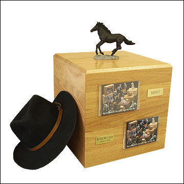 Black, Running PH700-3033 Horse Cremation Urn - Peazz Pet - 1