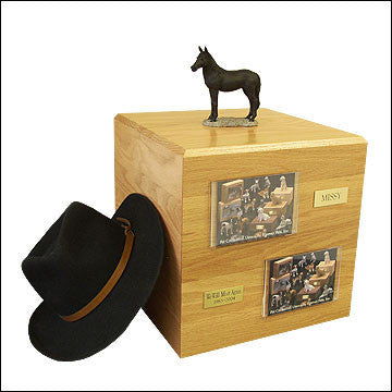 Black, Standing PH700-3018 Horse Cremation Urn - Peazz Pet - 1