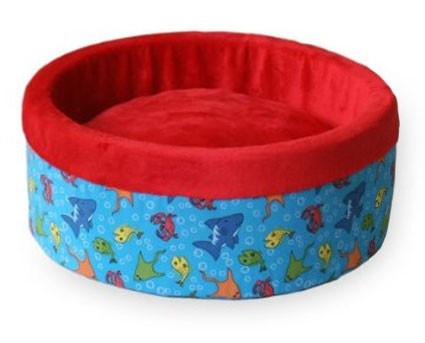 "Thermo-Kitty Bed Small Fish Red 16"" x 16"" x 6"" - Peazz.com"