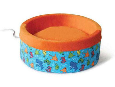 "Thermo-Kitty Bed Large Fish Orange 20"" x 20"" x 6"" - Peazz.com"