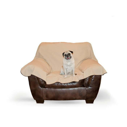 "K&H Pet Products KH7876 Leather Lover's Furniture Cover Chair Chocolate 54"" x 68"" x 0.25"" - Peazz.com"