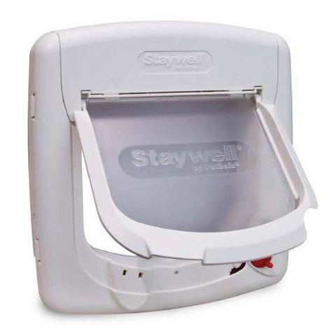 PetSafe PPA00-11324 Mag White Cat Flap 4 Way Lock - Peazz.com - 1