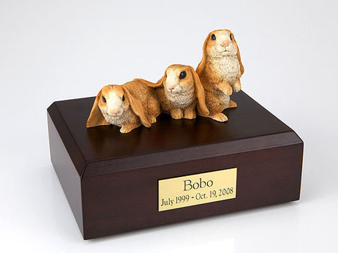 3 Brown Bunnies Side by Side TR200-350 Figurine Urn - Peazz Pet - 1
