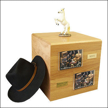 White, Rearing PH700-3051 Horse Cremation Urn - Peazz Pet - 1
