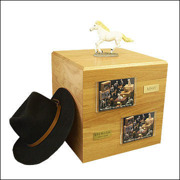 White, Running PH700-3036 Horse Cremation Urn - Peazz Pet - 1