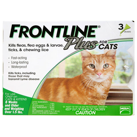 Frontline Plus Cats (3 Tubes) - Peazz Pet