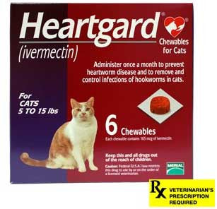 Heartgard Rx for Cats, 5-15 lbs (Purple) / 6 Months - Peazz Pet