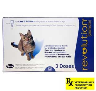 Revolution Rx for Cats - 3 Month / 5.1-15 lbs (Blue) - Peazz Pet