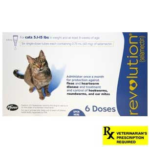 Revolution Rx for Cats - 6 Month / 5.1-15 lbs (Blue) - Peazz Pet