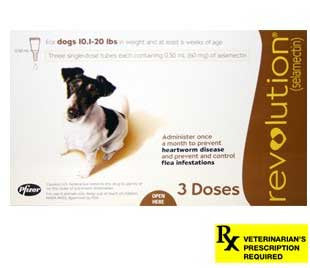 Revolution Rx for Dogs - 3 Month / 10.1-20 lbs (Brown) - Peazz Pet