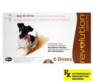 Revolution Rx for Dogs - 6 Month / 10.1-20 lbs. (Brown) - Peazz Pet