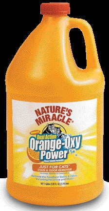 Nature S Miracle Orange Oxy Stain & Odor - Cat 1 Gallon (5705) -Peazz Pet