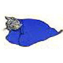 Feline Restraint Bag, 5-10 lbs, Navy - Peazz Pet