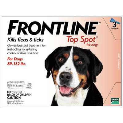 Frontline Top Spot, Dog 89-132 lbs (3 Doses) - Peazz Pet